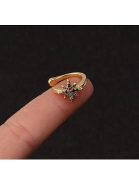 Accueil Bague d'oreille cartilage étoile multicolore -- HouseOfPeople.fr