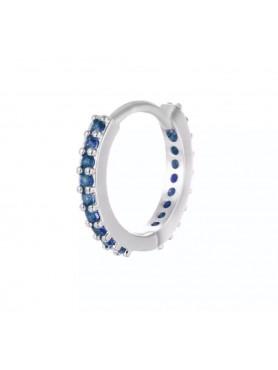 Accueil boucle d'oreille sertie argent et bleu -- HouseOfPeople.fr