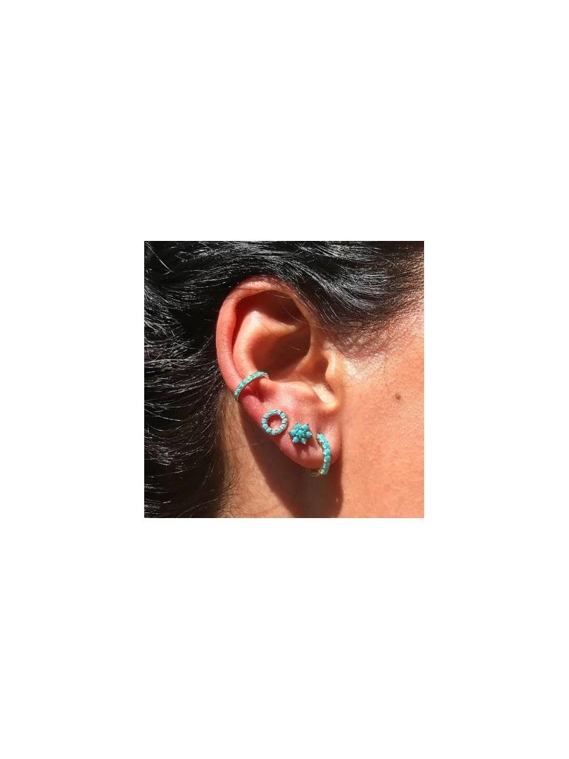 Accueil Boucles d'oreilles turquoise FLEUR -- HouseOfPeople.fr