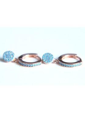Boucles d'oreilles turquoise ROUND