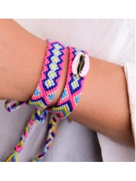 Accueil Ensemble de 2 bracelets bresilien Coquillage rose -- HouseOfPeople.fr