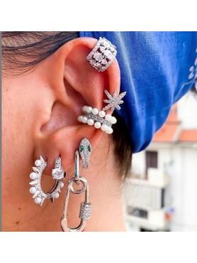 BIJOUX Bague d'oreille étoile argent -- HouseOfPeople.fr