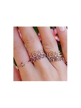 BAGUE OR ROSE LOVE